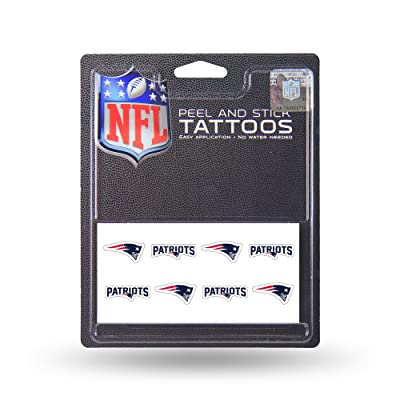 New England Patriots 8-Pack Waterless Temporary Tattoos : Football Apparel : Sports & Outdoors