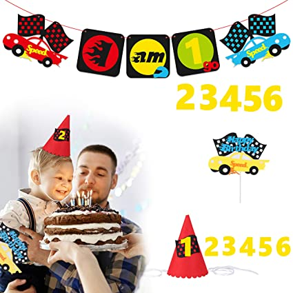 BeYumi Race Car Birthday Party Supplies For 1 6 Year Old Children Themed