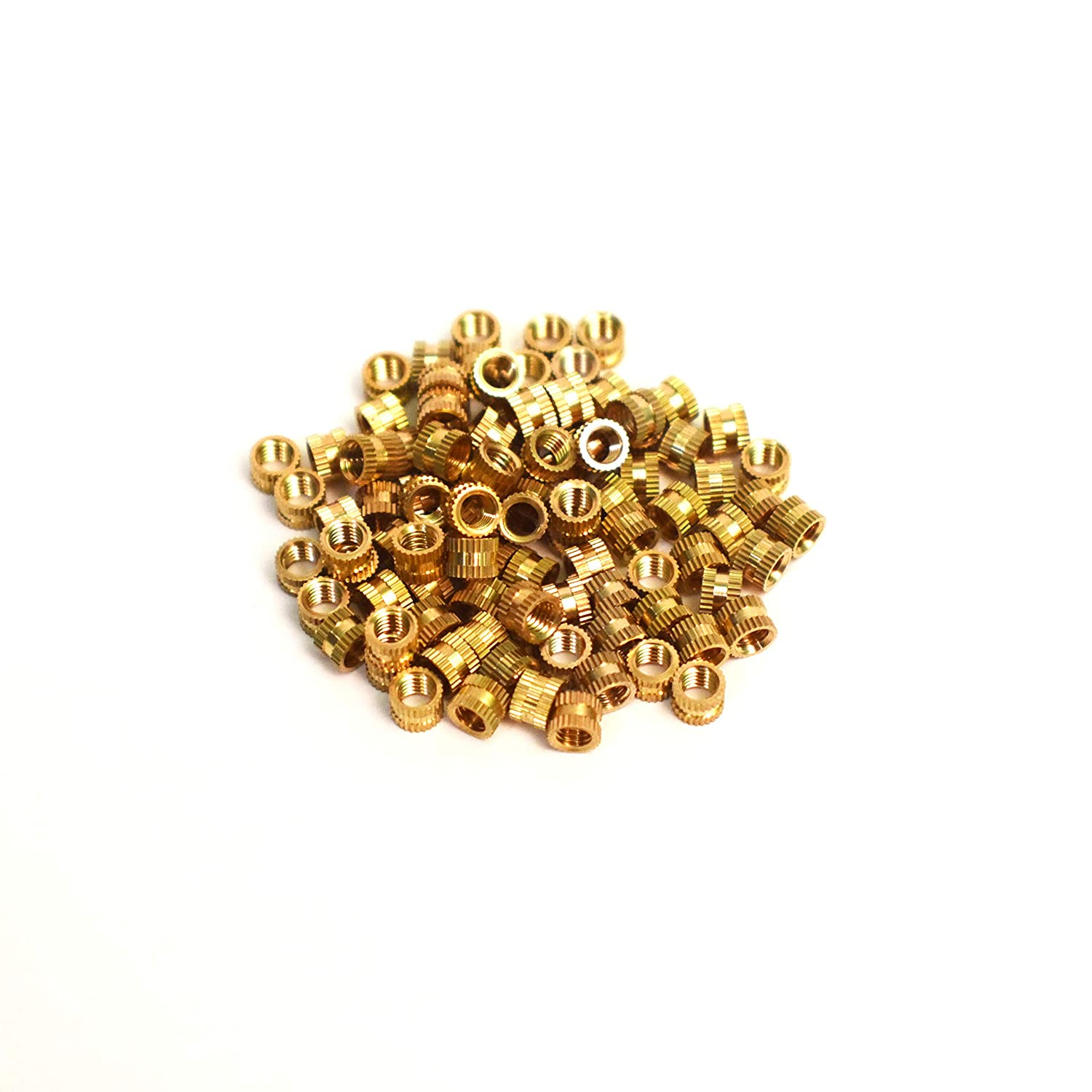 J/&J Products M3 Brass Insert 100pcs,4.0mm OD 3mm Length Female M3 Thread Press Fitting or Heat Sink or Injection Molding Type 100 pcs