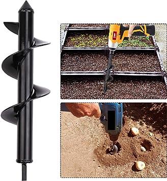Garden Planter Bulb Auger Drill Bit Garden Cultivator Hand Drill Digger Auger