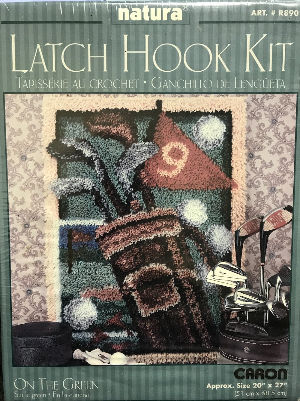 Latch Hook Kit - On the Green - 20'' x 27''
