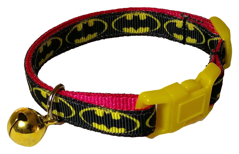 Flamboyant Bat Cat Spoilt Rotten Pets Designer Cat Collar With Bell /& Safety Buckle