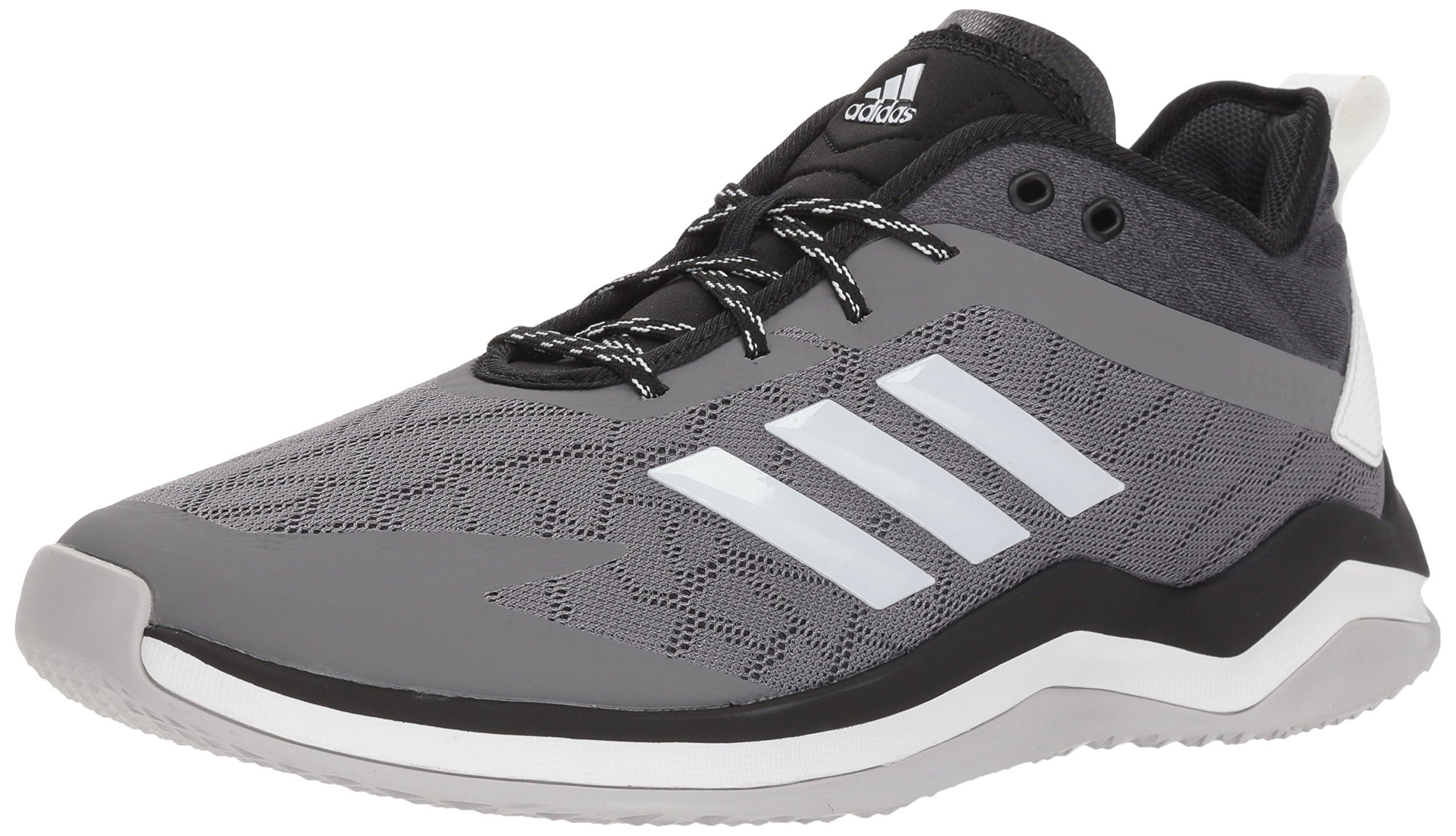 adidas Men's Speed Trainer 4 Baseball Shoe, Grey/Crystal White/Black, 8.5 M US by adidas