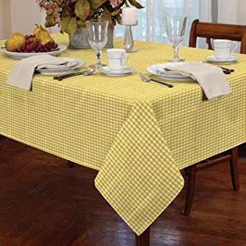 Gingham Check Oblong Tablecloth Dining Room Or Kitchen Table Linen 54 X 72