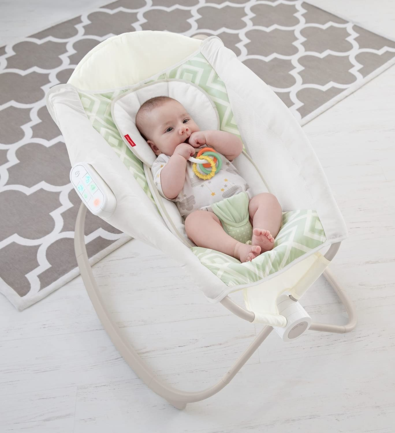 Fisher-Price Deluxe Newborn Auto Rock n Play Sleeper with Smart Connect by Fisher-Price: Amazon.es: Bebé