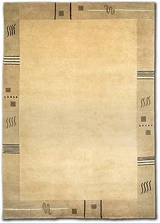 Teppich Premium Nepal fein mit Seide Handgeknüpft 60x90 cm 100 /% Wolle 3 Farben