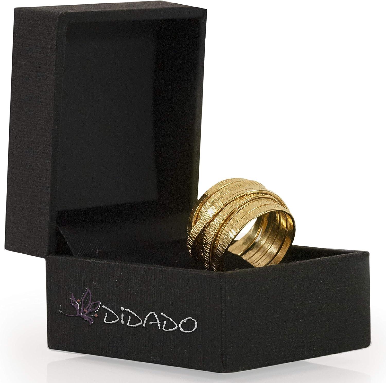 DiDaDo Bague en 14K Gold-Filled Chevauchement Entrelac/és Entrecroisement Croisement Engagement Nou/é Bague