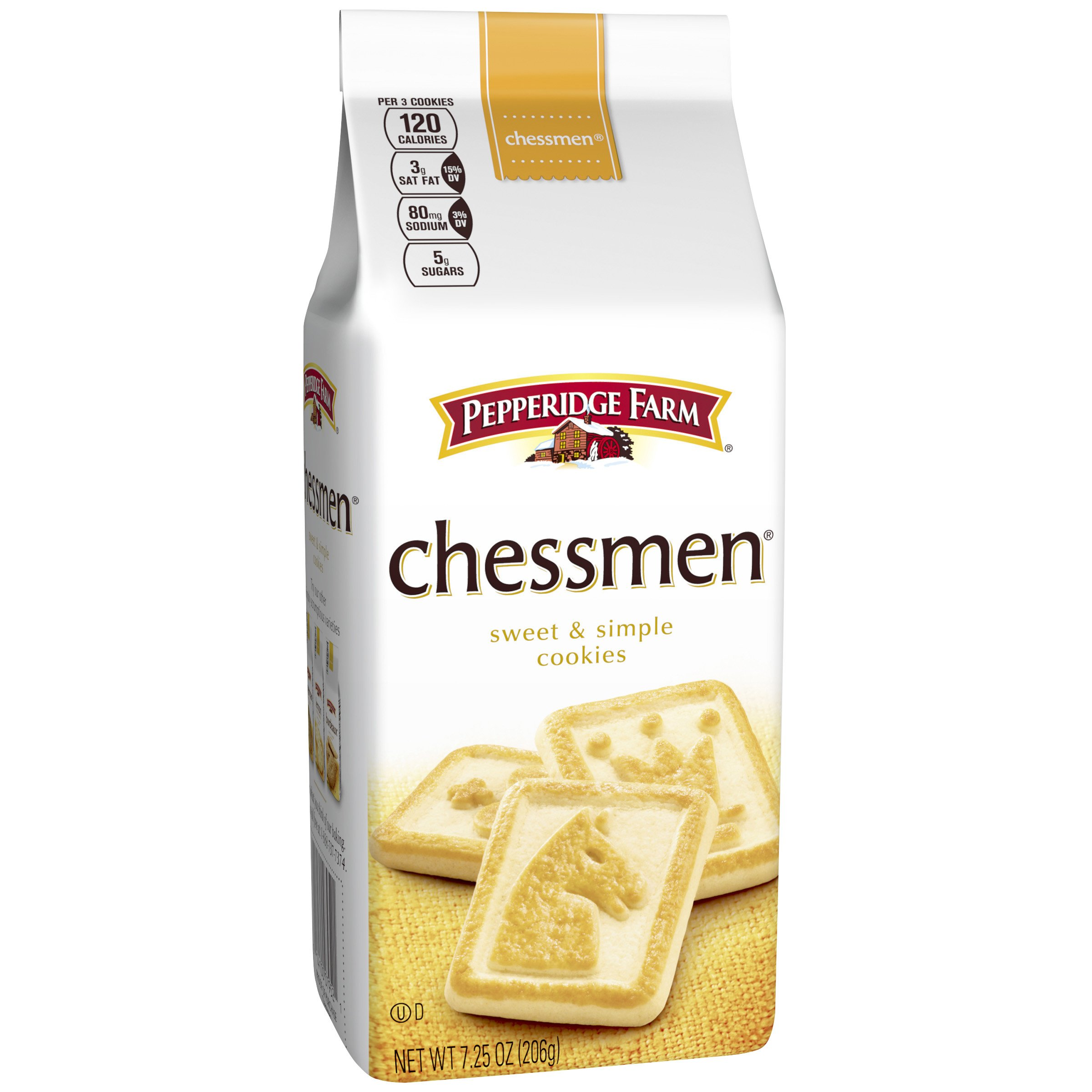 Pepperidge Farm, Chessmen, Cookies, 7.25 oz., Bag, 24-count