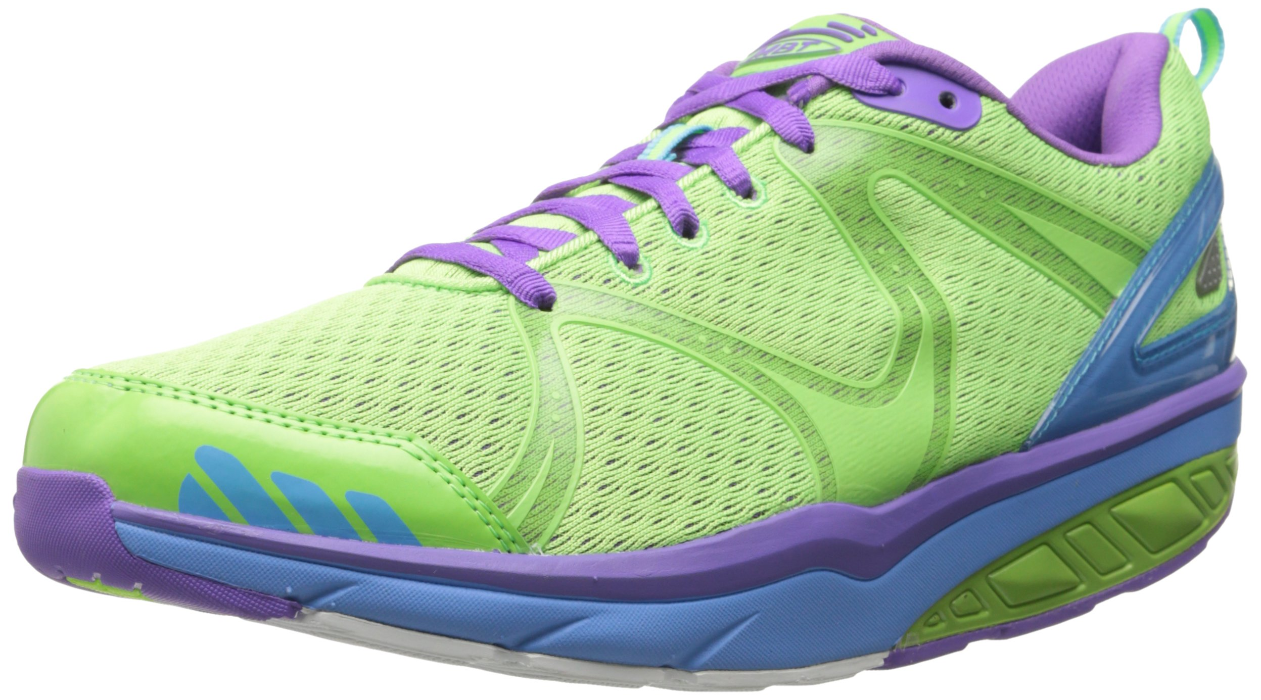 MBT Women's Afiya 5 Athletic Oxford , Neon Lime/White/Neon Scuba ,36 EU/5-5.5 M US by MBT