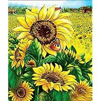5D Diamond Painting Kits, DIY Rhinestone Embroidery Full Drill Cross Stitch Arts Craft for Home Wall Decor Sunflower…
