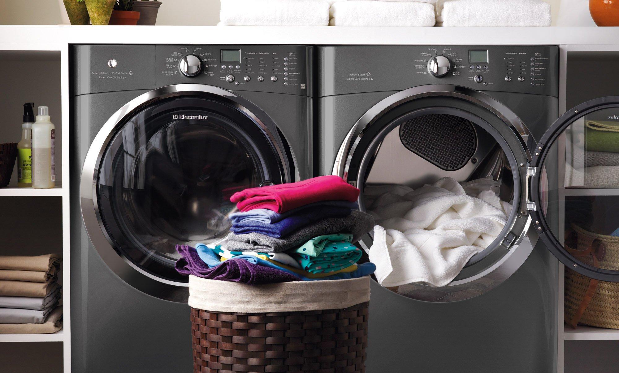 Electrolux Laundry Bundle   Electrolux EIFLS60LT Washer & Electrolux EIMGD60LT Gas Dryer - Titanium