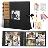 Photo Scrapbook Album - MMTX DIY Photo Album Collection Scrapbook Supplies with 50 Sheets 100 Pages for Mother's Day…