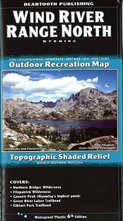 Wind River Range Wyoming Map.Amazon Com Wind River Mountains Topographic Map Northern Half