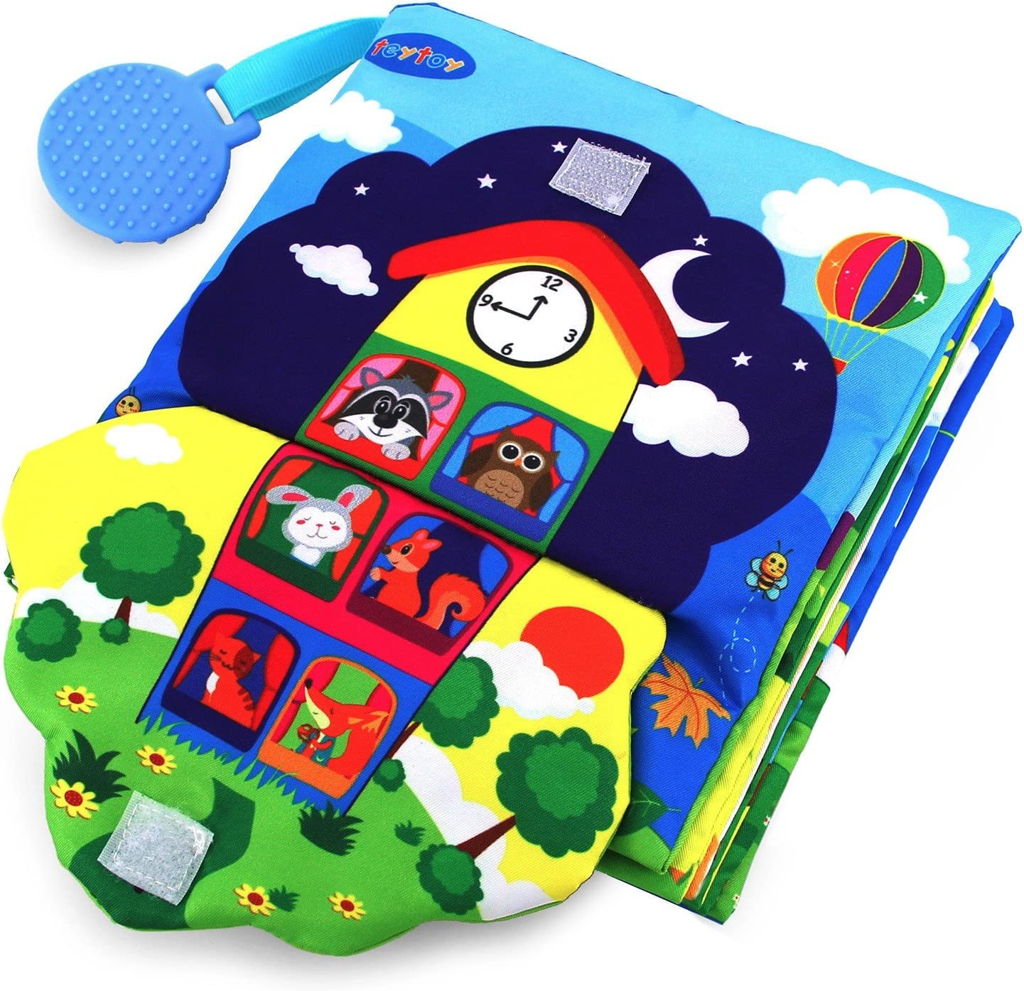Kids Soft Cloth Book Learning to Dress Zip Button Tie Teaching Tool Colorful