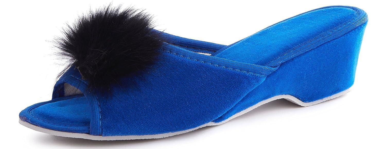 Ladeheid Bleu Chaussons Mules Fourrure Pantoufles LABR301 avec Semelle Claquette Chaussures Été Pantoufles Femme LABR301 Bleu 91aed1d - fast-weightloss-diet.space