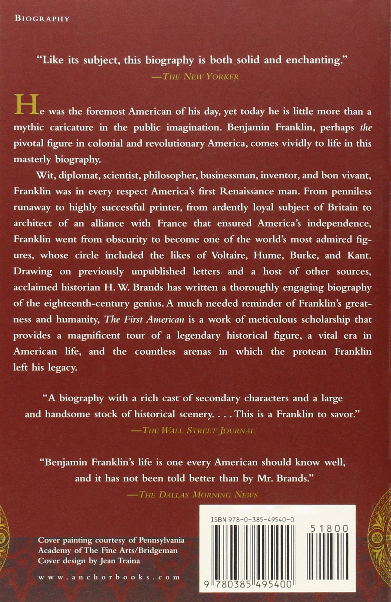 The First American: The Life And Times Of Benjamin Franklin: Hw Brands:  9780385495400: Amazon: Books