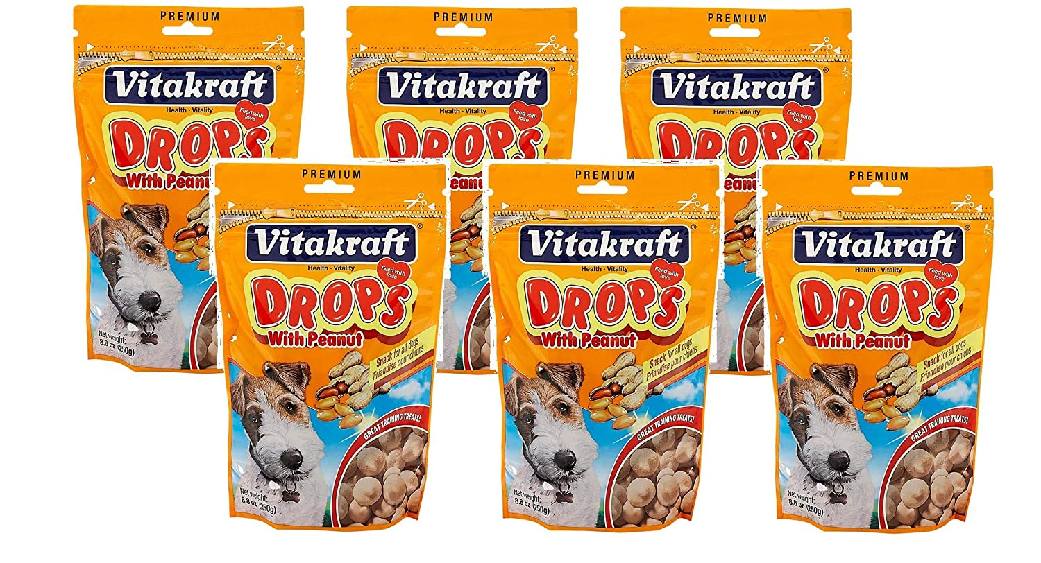 VitaKraft Drops with Peanut Dog Treat Snacks – 6 PACK