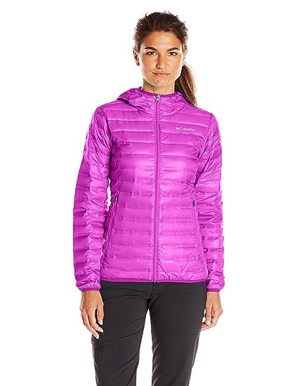 46564e373 Columbia Sportswear Women's Flash Forward Hooded Down Jacket, Bright Plum,  X-Small