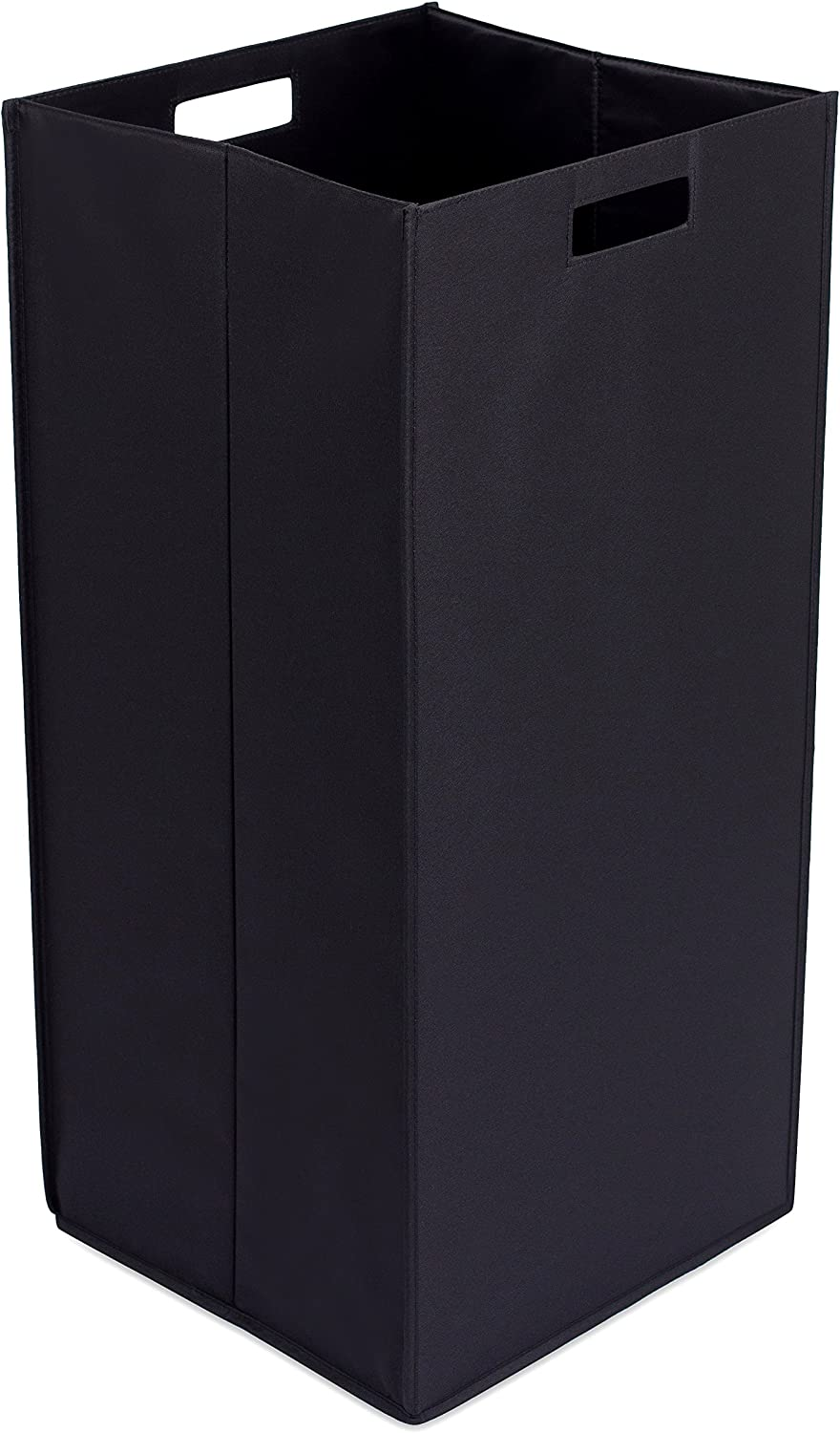 Internet's Best Collapsible Laundry Hamper - Dirty Clothes Sorter with Handles - Easy Storage - Magnetic Side - Folding - Black
