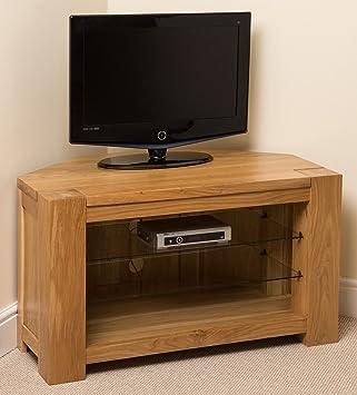 Oak Furniture King Kuba Tv Schrank Eiche Massives Holz Glas