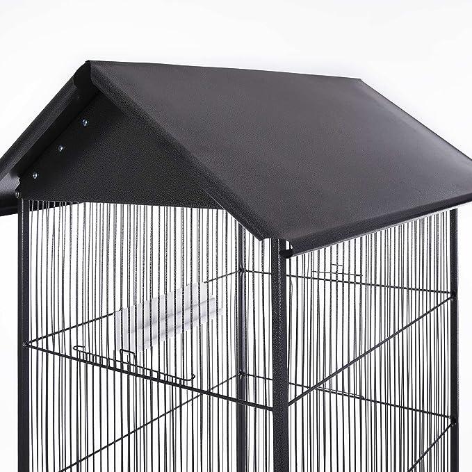 Deuba® Jaula de pájaros | XXL | 18 kg | Con ruedas giratorias | 157 cm | casa para pájaros | Incluye accesorios | Jaula grande | Bandeja extraíble ...