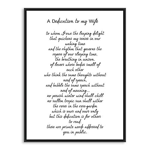 Amazon dedication to my wife ts eliot poem poetry art quotdedication to my wifequot ts eliot poem poetry art print stopboris Images