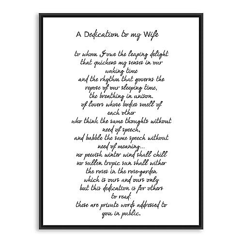 Amazon dedication to my wife ts eliot poem poetry art quotdedication to my wifequot ts eliot poem poetry art print stopboris Image collections