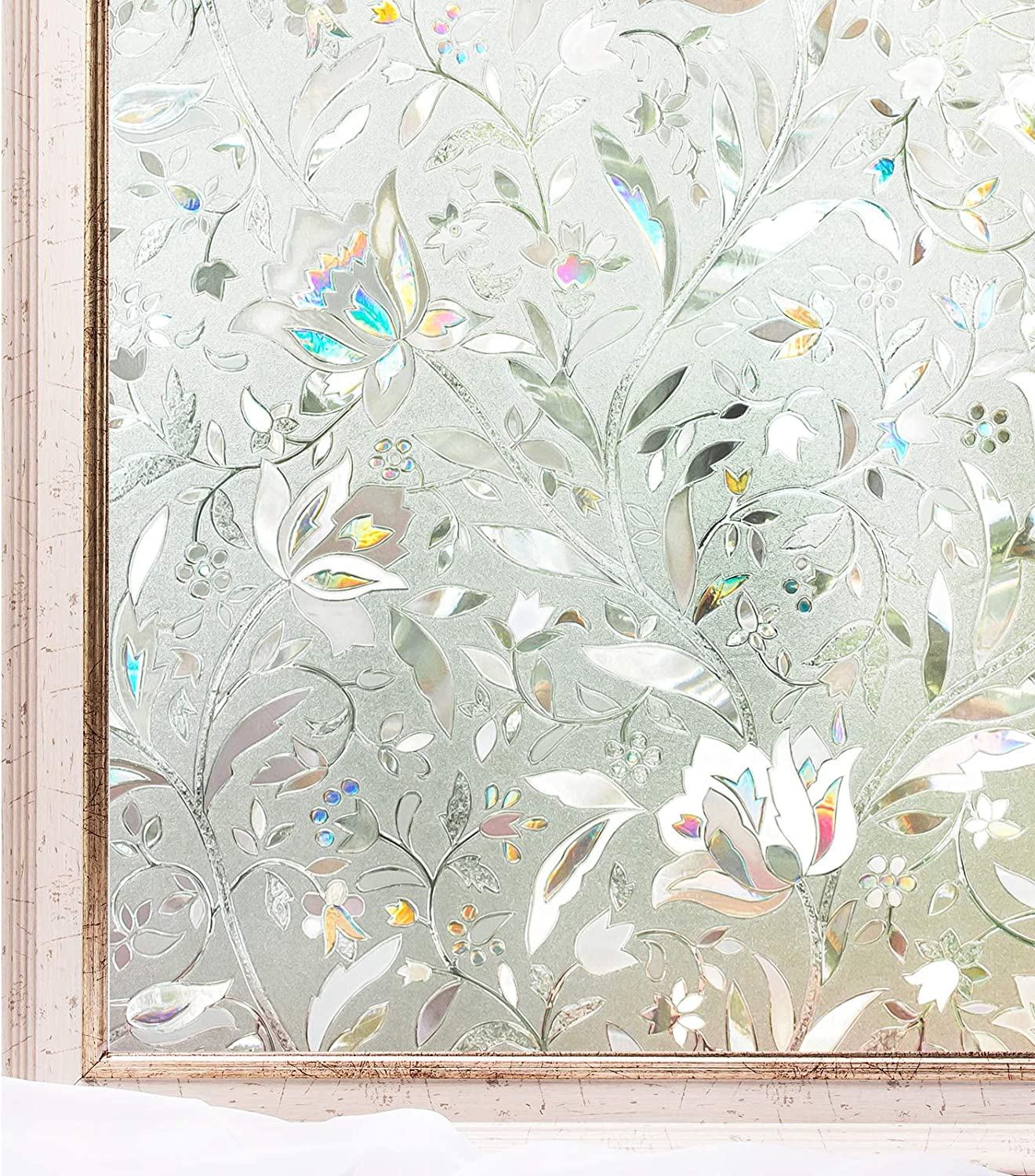 Self-adhesive Static Window Sticker Glass Door 3D Frosted Privacy Film 4 Size