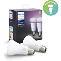 Philips Hue E27 Renkli Akıllı LED Ampul, 2'li Ekopaket