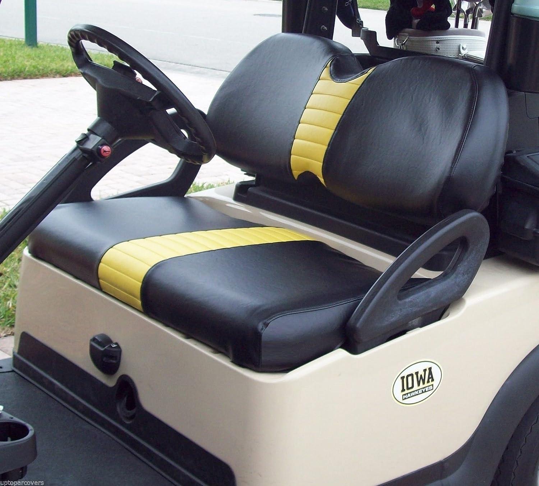 Amazon club car precedent custom golf cart front seat cover amazon club car precedent custom golf cart front seat cover set plus rear seat cover set combo one stripe staple on handmade jeuxipadfo Choice Image