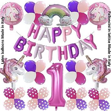 Shopama - Globos de Unicornio para 1 cumpleaños, para niña ...