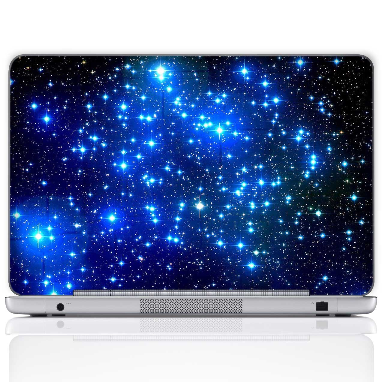 Meffort Inc Custom Size Laptop Notebook Skin Sticker Cover Art Decal (Free wrist pad), Customize Your Laptop Size - Galaxy Stars