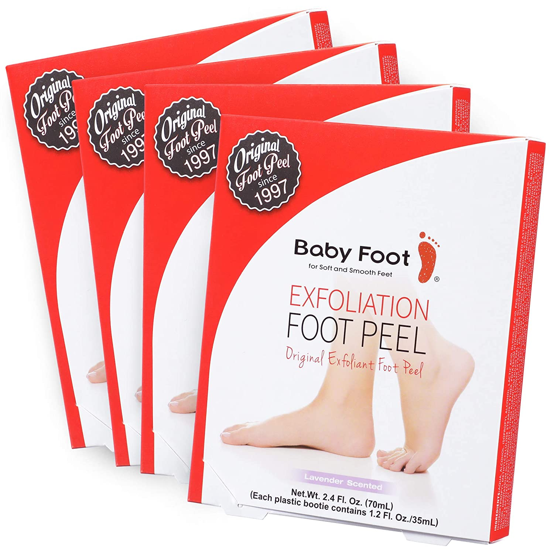 Baby Foot Peel - 4 Pack Exfoliant Peel - Lavender