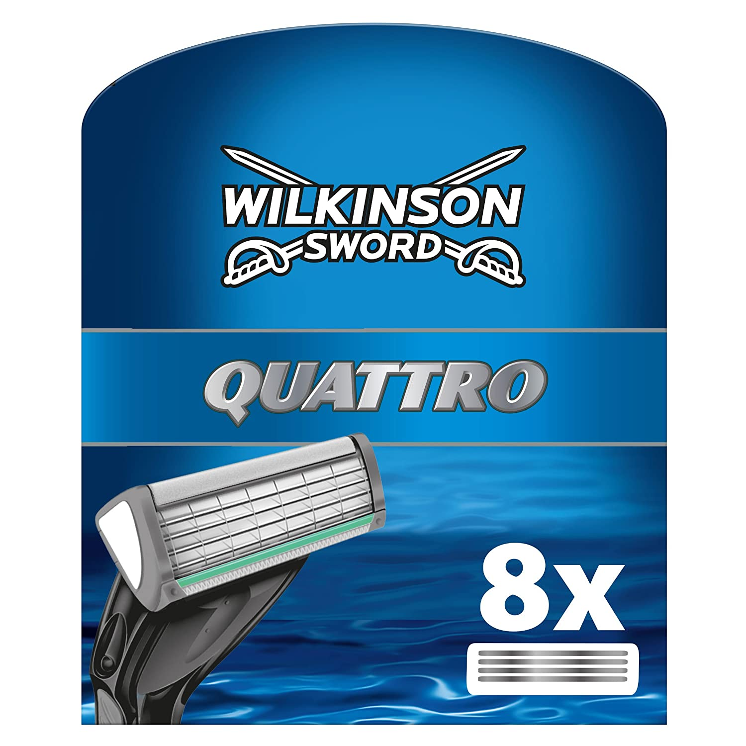 Wilkinson Sword Systems Quattro 8 Blades HealthCentre 2974095