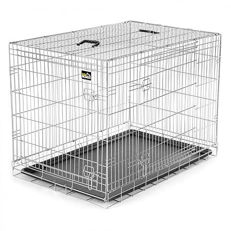zoomundo Portador Jaula Plegable Metálica para Mascotas para Perros Gatos Tamaño XL (2 puertas)