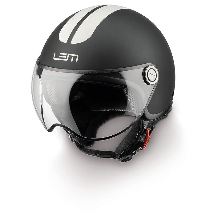 Amazon.es: Casco Moto LEM - Roger Go Fast, NEGRO MATE CON ...