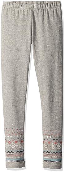 4ff5144696a0c8 Amazon.com: Gymboree Girls' Big Grey Fairisle Legging, Cozy Heather ...