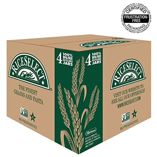 RiceSelect Whole Wheat Orzo, 26 5 oz Jar (Pack of 4)