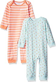 Amazon Essentials Girls' Baby 2-Pack Coverall