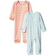 Amazon Essentials Baby 2-Pack Coverall, Girl Fruit, 6-9M
