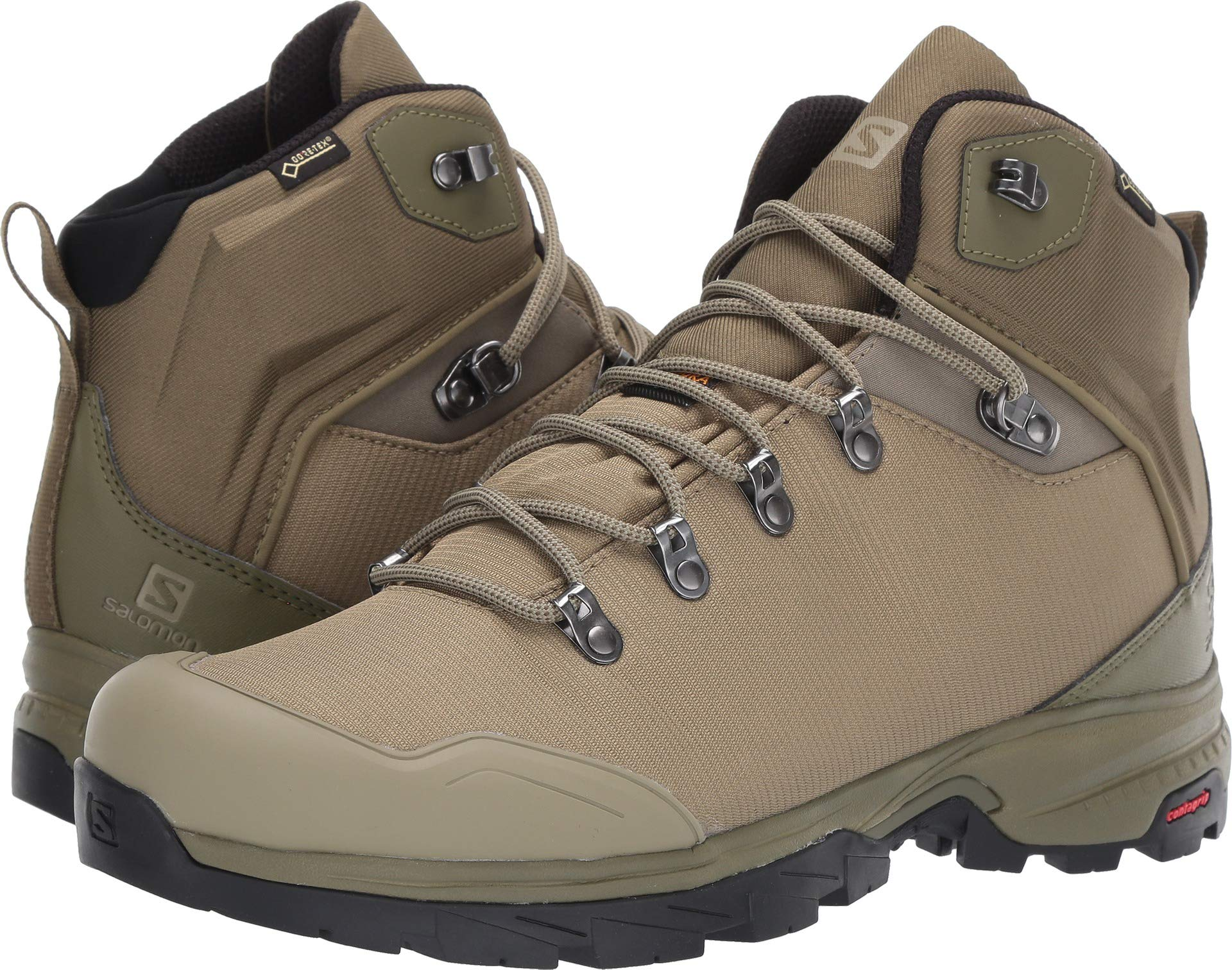 SALOMON Men's Outback 500 GTX Backpacking Boots, Burnt Olive/Mermaid/Black, 13 by Salomon