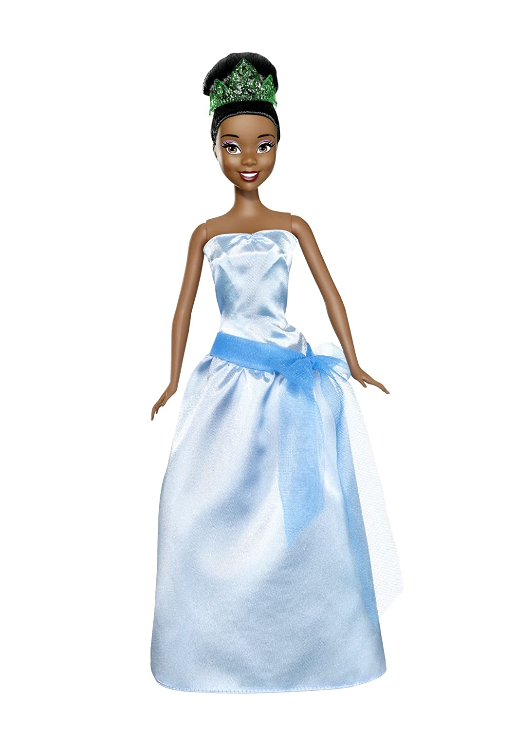 Amazon.com: Mattel Disney Princess 2-In-1 Ballgown Surprise Tiana ...