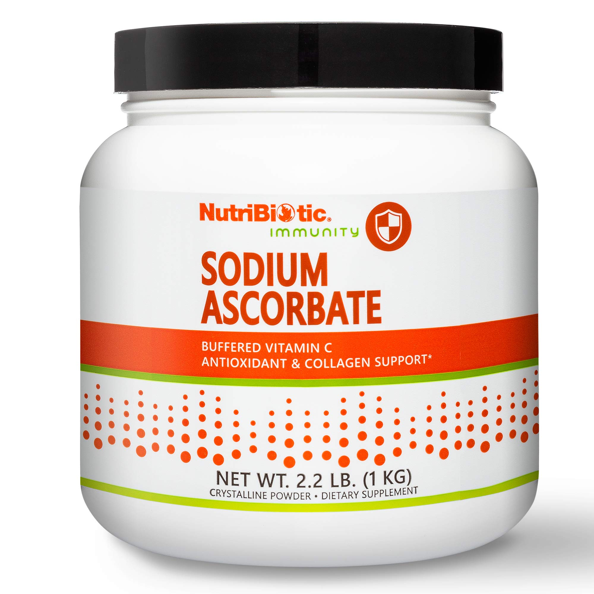 Nutribiotic - Sodium Ascorbate Buffered Vitamin C Powder, 2.2 pound | Vegan, Non Acidic & Easier on Digestion than Ascorbic Acid | Essential Immune Support & Antioxidant Supplement | Gluten & GMO Free