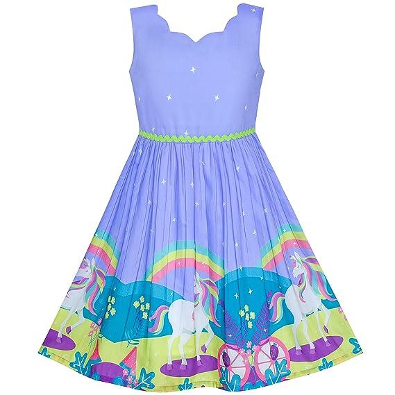 Sunny Fashion Vestido Para Niña Diseño De Mariposas