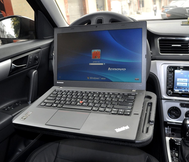 Cutequeen JIANXIN Trading car Eating/Laptop Steering Wheel Desk, Black: Automotive