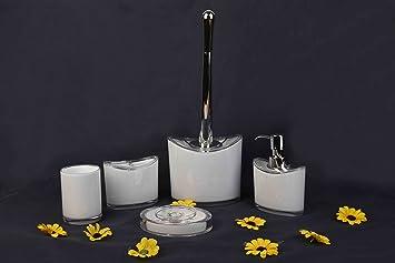 Toilet Accessoires Set : Duygu 5 tlg. badezimmer set bad seifenspender badgarnitur accessoire