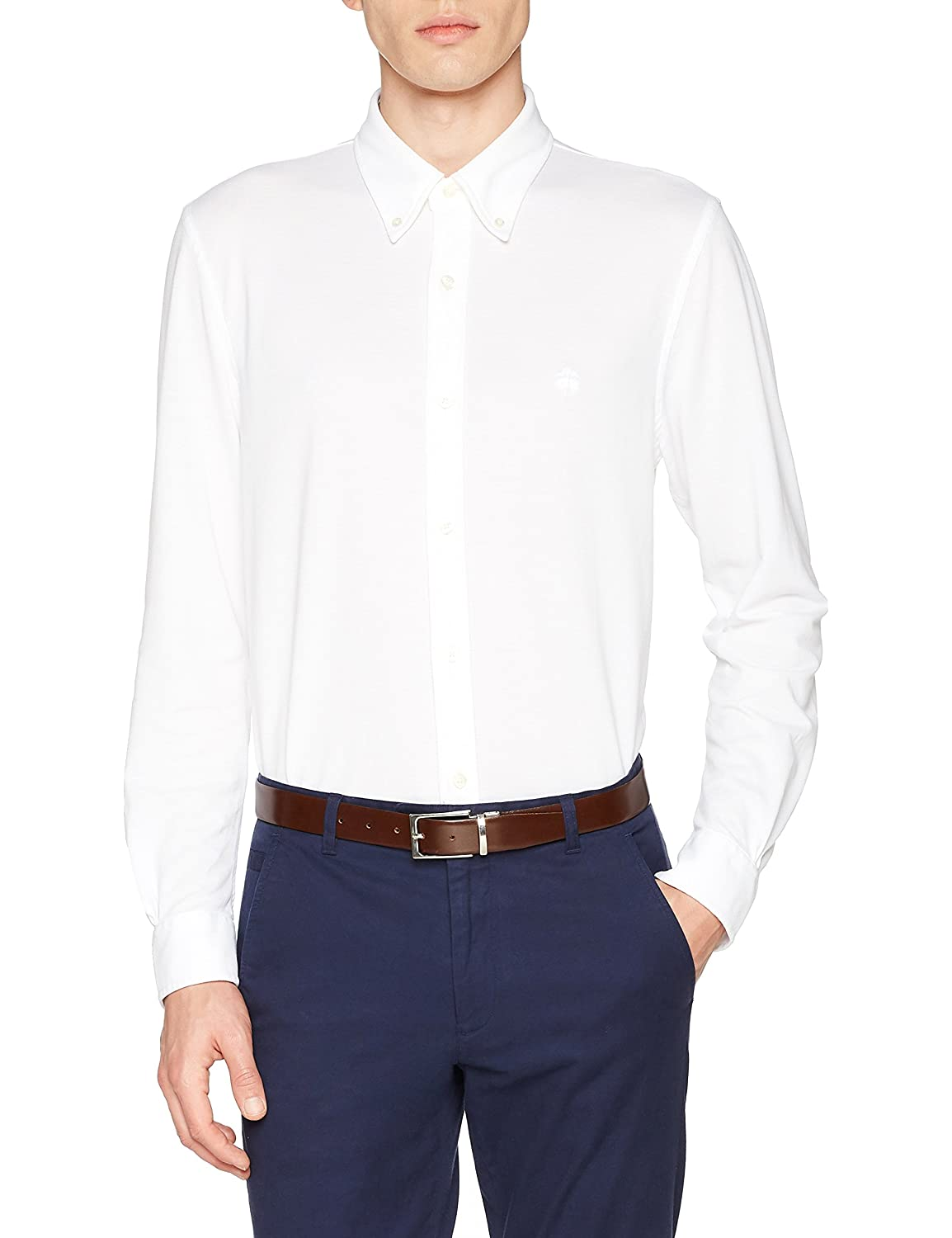 BROOKS BROTHERS Camicia Botton Down Oxford Pique, Camisa Casual para Hombre