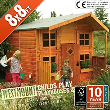8x8 Ft Childs Childrens Playhouse Wendyhouse Den Courtesy Of