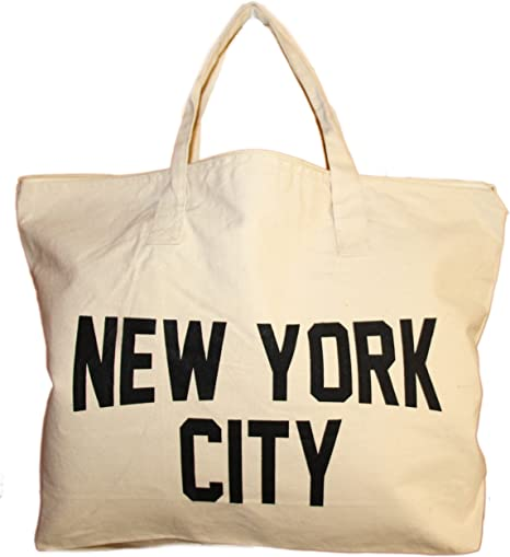 Black Canvas 100/% Cotton Red New York Tote Bags Fashion Totes 14 Inches New York City Tote Bag,
