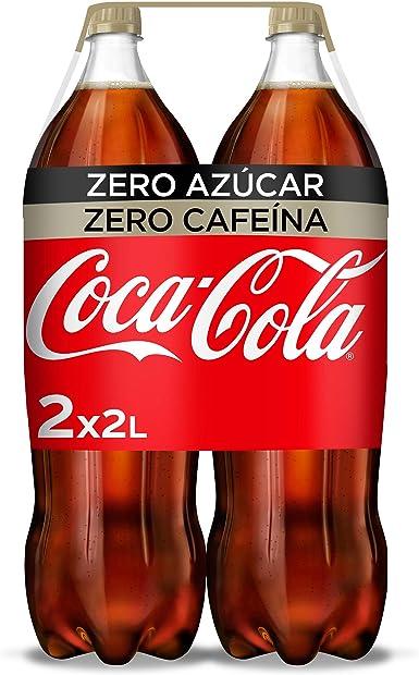 Coca-Cola Zero Azúcar Zero Cafeína Botella - 2 l (Pack de 2 ...